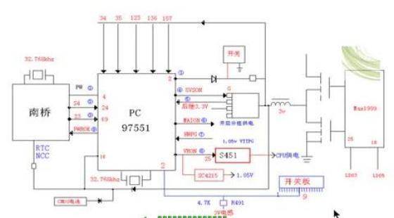 联想,hp笔记本电脑开机电路工作原理
